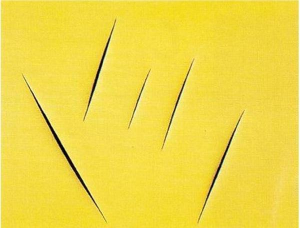 "Lucio Fontana, ""Concept Spatiale"", 1959, 100 x 125 cm"