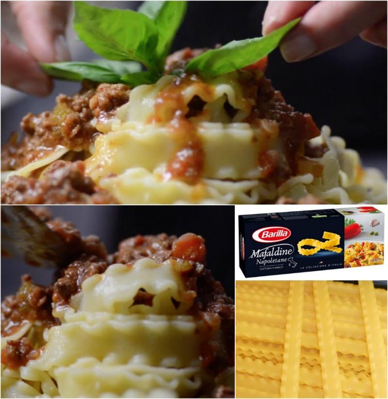 σάλτσα bolognese με Μafaldine Barilla