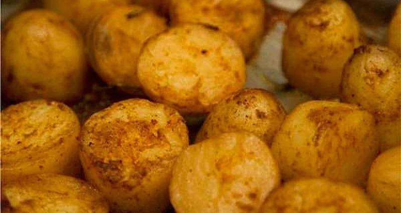 καραμελωμένες πατάτες φούρνου