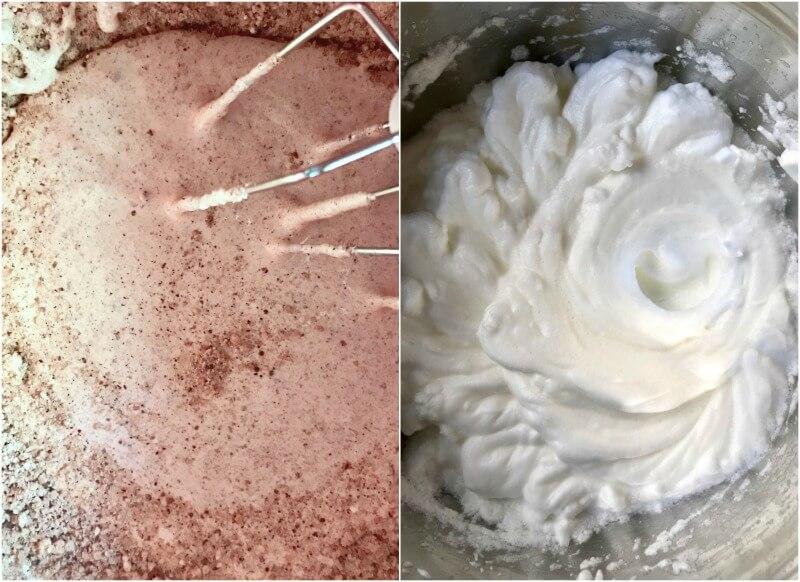 ετοιμάζοντας το μείγμα της καρυδόπιτας