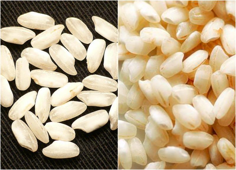 Εθιστικό ιταλικό ριζότο – Μέρος ΙΙ- αριστερά: Ρύζι Carnaroli, δεξιά Arborio