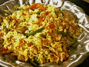 indian recipe-vegetarian biryani
