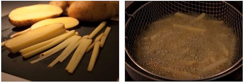 τέλειες τηγανητές πατάτες με φλούδα