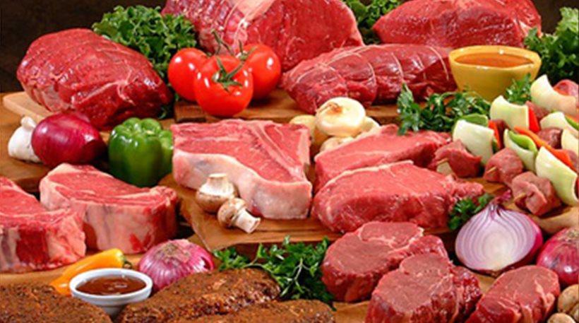 ακατέργαστο κόκκινο κρέας