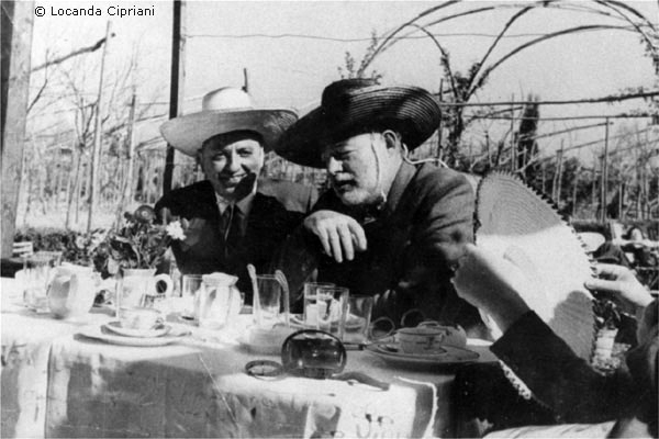 O Giuseppe Cipriani με τον Ernest Hemingway
