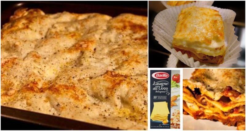 λαζάνια φούρνου με κιμά και μπεσαμέλ