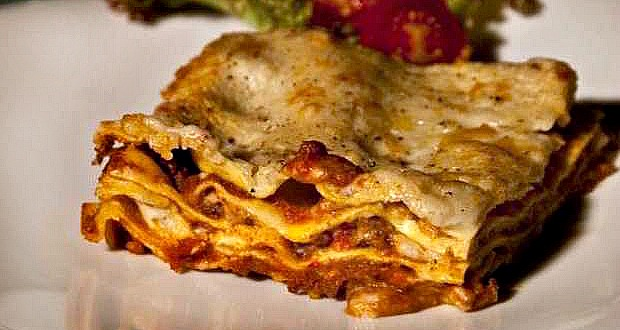 oven-baked lasagna with bolognese sauce