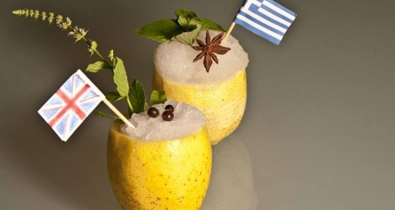 Ouzo granita vs. Gin 'n Tonic sorbet: A cool Greek/British battle