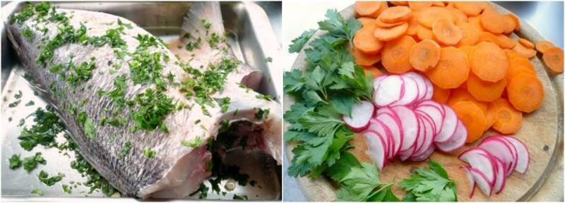 ψάρι και λαχανικά για Αθηναϊκή