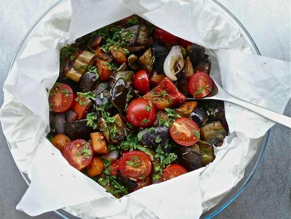 ψητά λαχανικά στη λαδόκολλα – λαχανικά στο χαρτί
