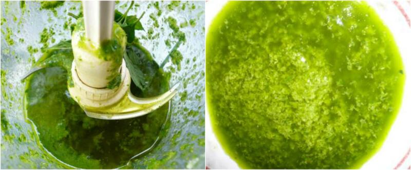 Πράσινη σάλτσα μέντας - salsa verde