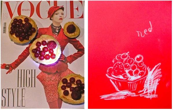 Vogue Italia και ταρτάκια με φραγκοστάφυλο και βατόμουρα