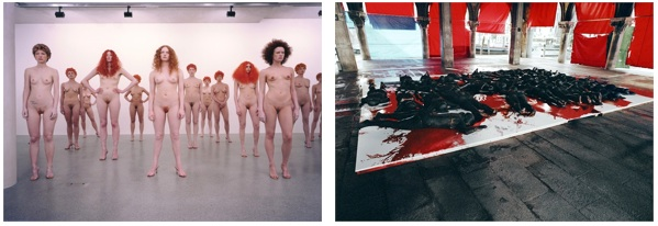 Vanessa Beecroft, performance, Vogue Italia