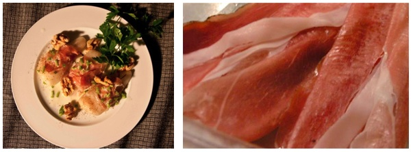 αχλάδια με σπεκ και σάλτσα γκοργκοντζόλας
