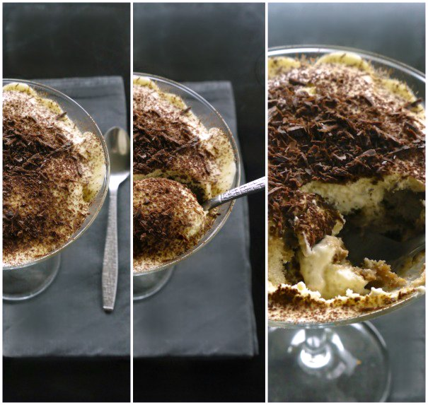 tiramisu served in a glass