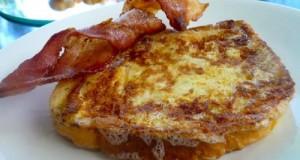 γαλλικό τοστ - french toast με μπέικον