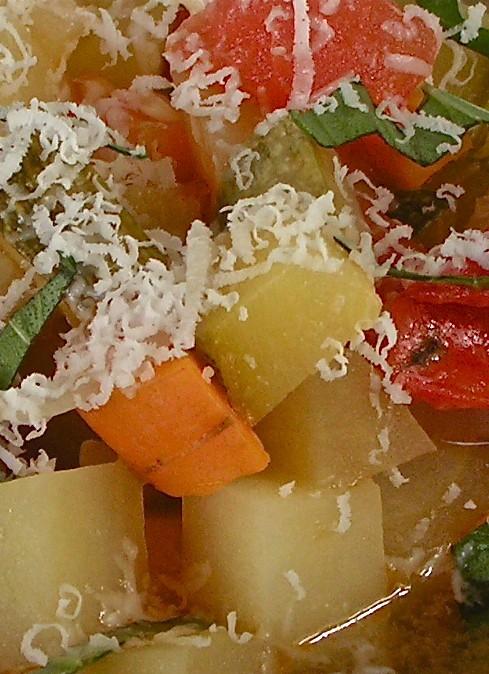 μινεστρόνε λάιτ: λαχανικά