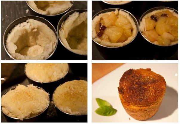 σαρλότ με μήλο, αχλάδι και κυδώνι - γέμισμα