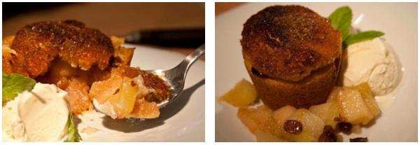 σαρλότ με μήλο, αχλάδι και κυδώνι -σερβίρισμα