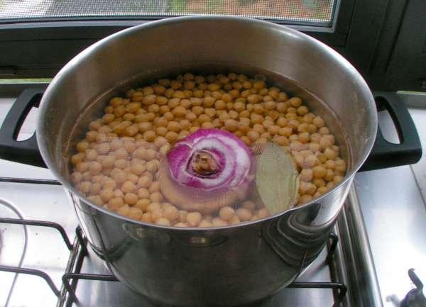 ρεβύθια σούπα αρχικό βράσιμο