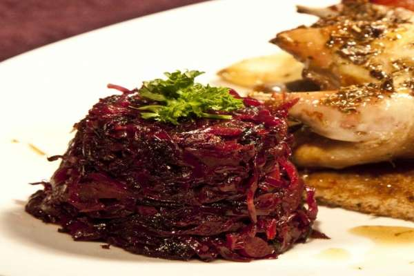 γλυκόξινο κόκκινο λάχανο