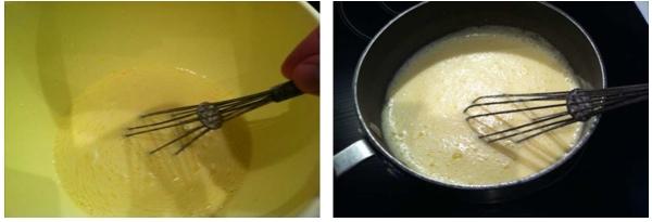 trifle portokalion: creme anglaise