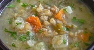 σούπα με σιτάρι και λαχανικά
