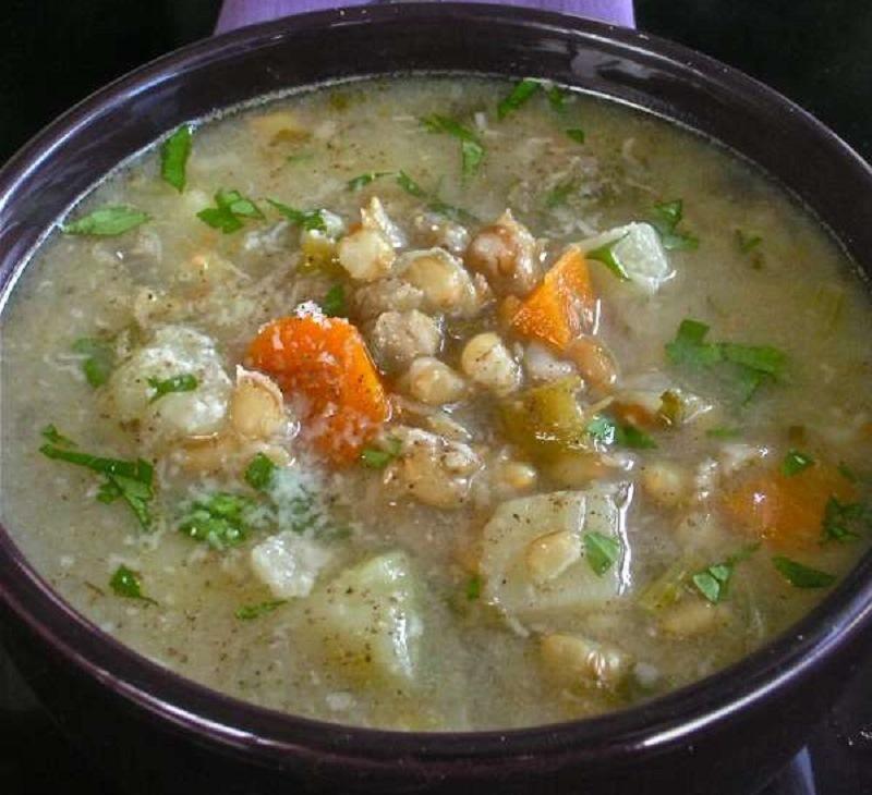 σούπα με σιτάρι και λαχανικά: συνταγή με συναίσθημα