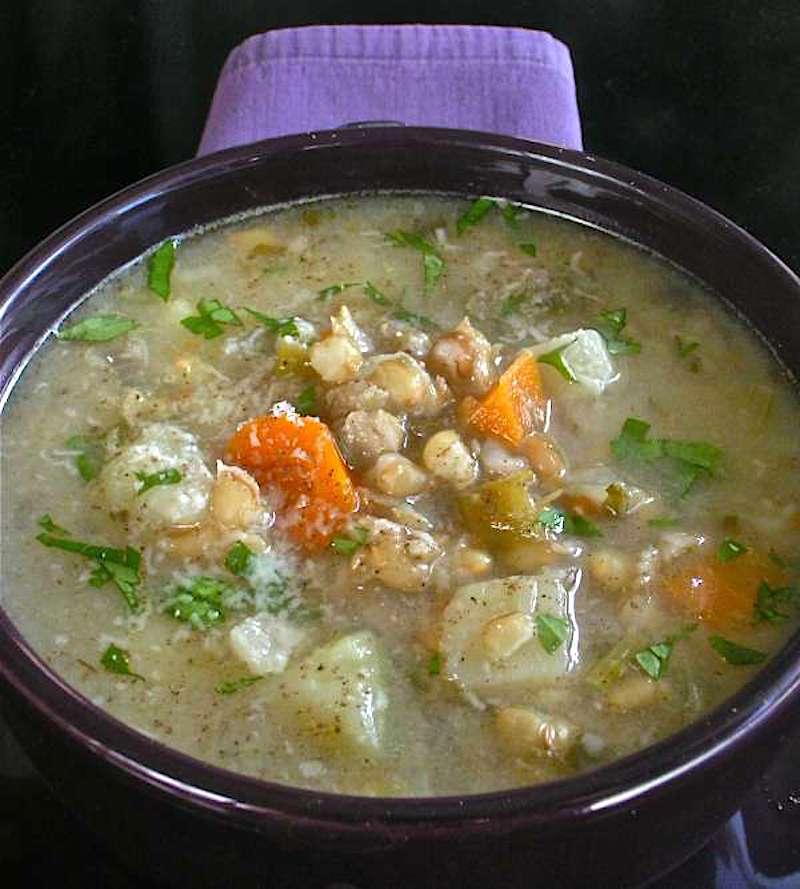 σούπα με σιτάρι και λαχανικά - χειμωνιάτικες σούπες - συνταγές με σιτάρι