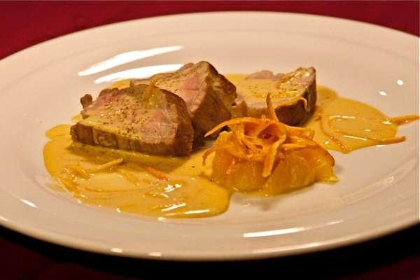 ψαρονέφρι με σάλτσα πορτοκαλιού