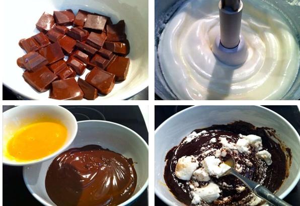 πλούσια μους σοκολάτας