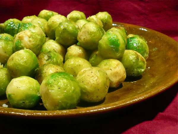 shiny Brussels sprouts: green power