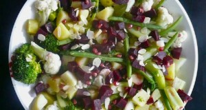 σαλάτα με ρόδι και λαχανικά