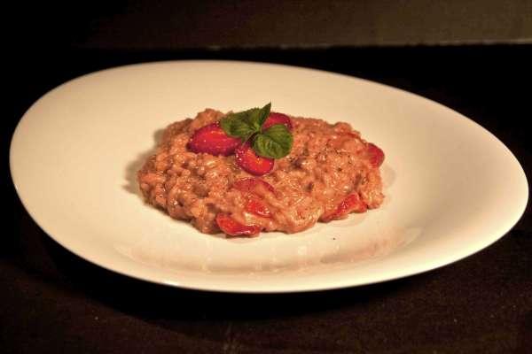 italian strawberry risotto