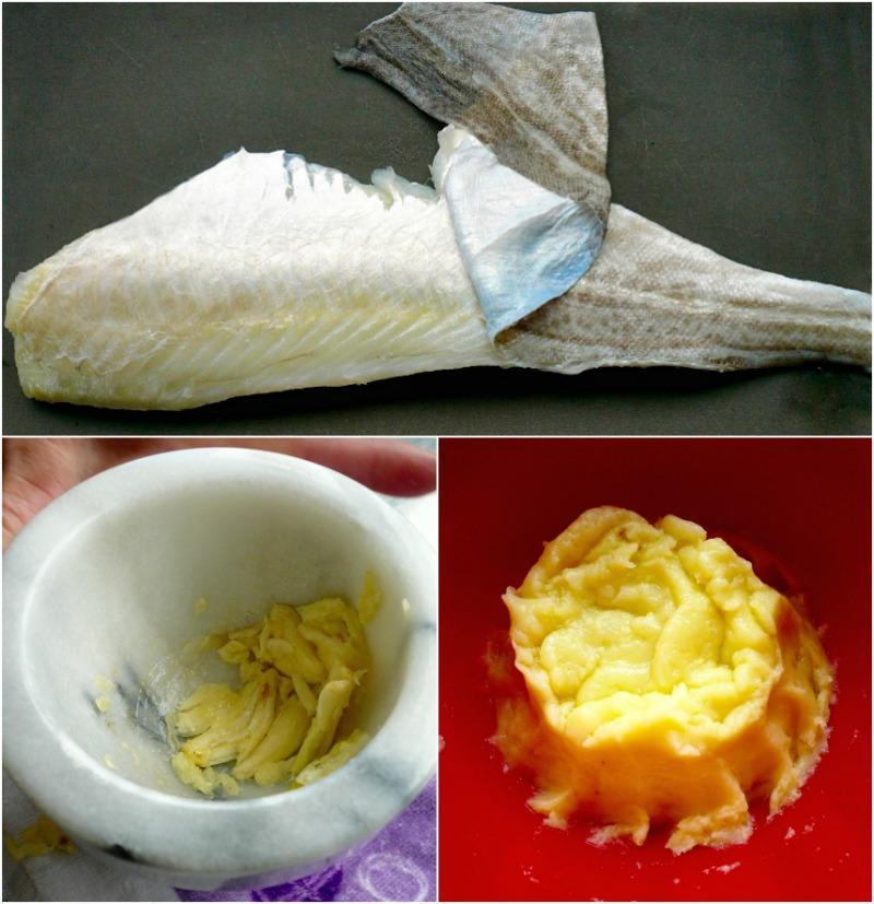 προετοιμασία μπακαλιάρου και σκορδαλιάς με πατάτα