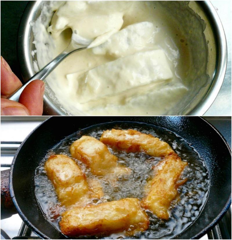 μπακαλιάρος σκορδαλιά - κουρκούτι και τηγάνισμα