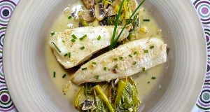 sole fillet with white wine sauce