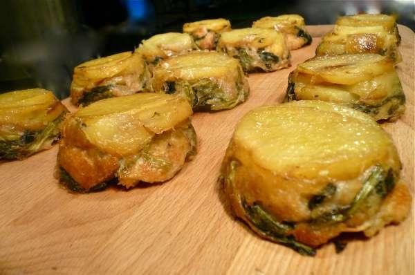 ταρτάκια με ψωμί και λαχανικά