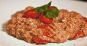 delicious strawberry risotto