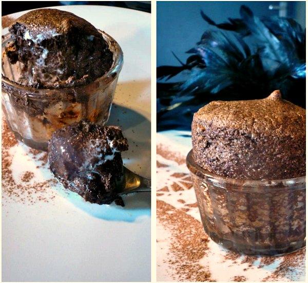 Εύκολο σουφλέ σοκολάτας με 4 υλικά
