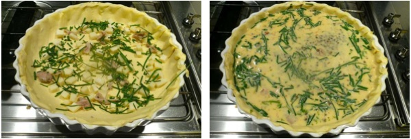quiche with lentils, gruyere and Vin Santo sauce