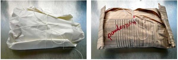 Αρνάκι ή κατσικάκι στη λαδόκολλα - δέσιμο πακέτου