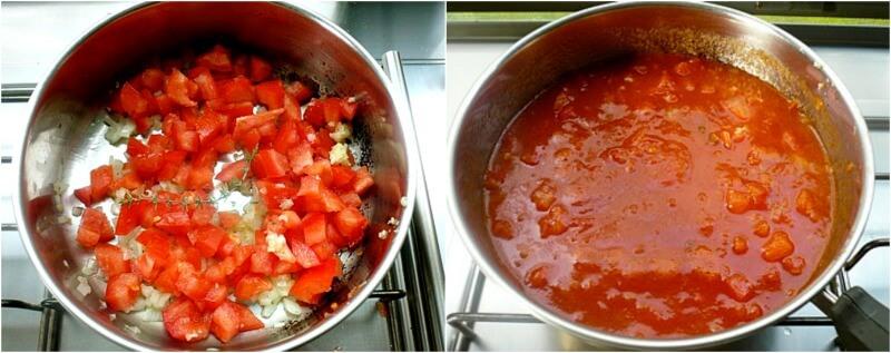 σάλτσα φρέσκιας ντομάτας για σουφλέ