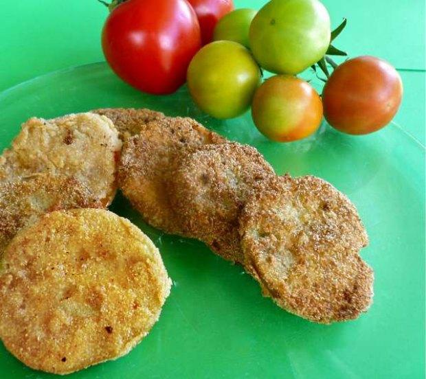 πράσινες τηγανητές ντομάτες