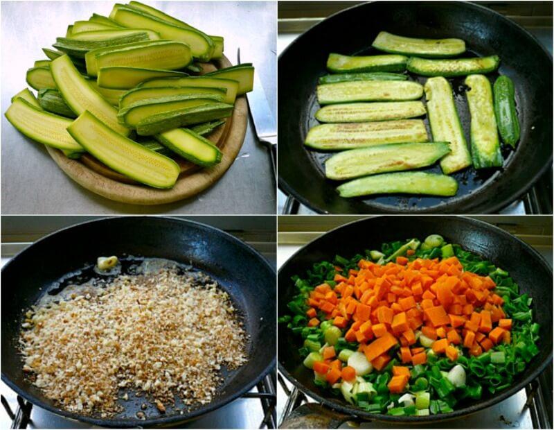 λαζάνια από κολοκύθια γεμιστά με λαχανικά