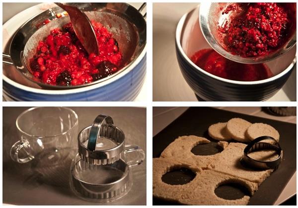 summer pudding - preparing
