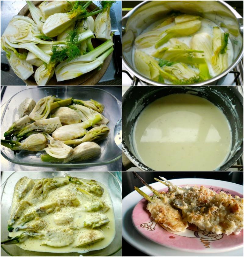 Φινόκιο γκρατέν με μπεσαμέλ και πικάντικη γραβιέρα - φινόκο συνταγές - φινόκιο στο φούρνο