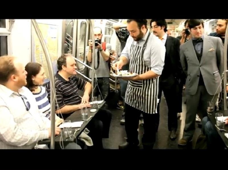 γεύμα στο μετρό