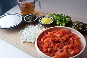 τσάτνεϊ ή ρέλις ντομάτας - τα υλικά