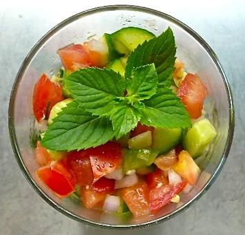 cool tabbouleh salad with bulgur